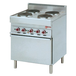 Electric Cooker 4 hobs with Convection oven