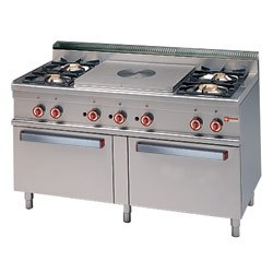 Gas Range 4 Burners with 2 Gas Oven