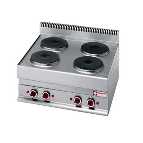 Electric Range 4 round cooking plates Top-E65/4P7T